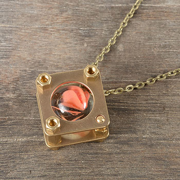 <div>時光彈珠項鍊 NECKLACE - TRAPPED MARBLE-銅</div>
