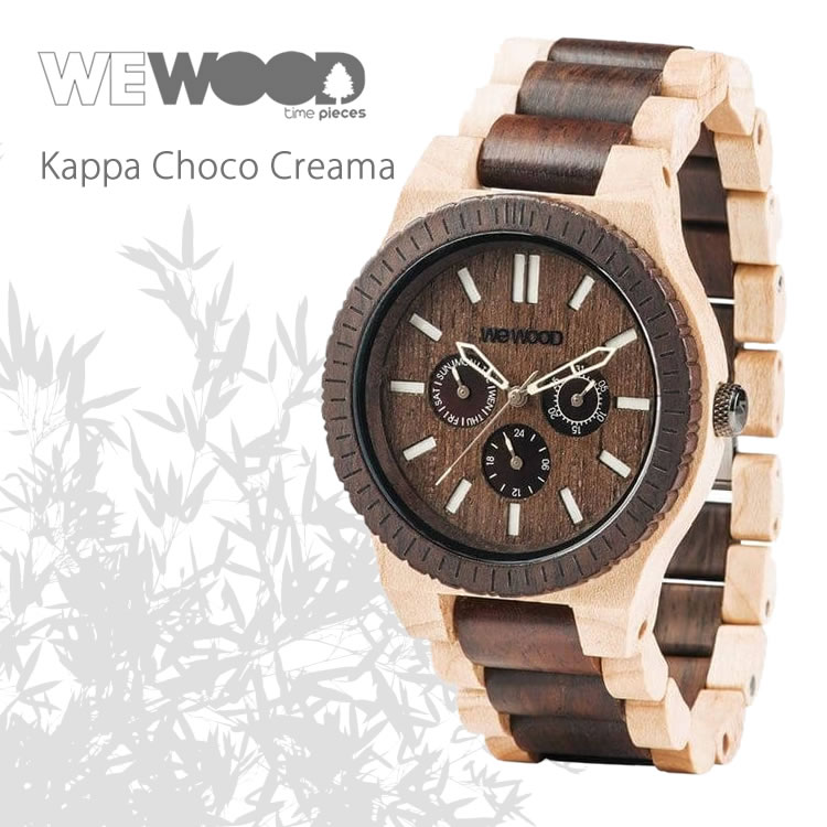 <div>義大利WEWOOD 大圓三眼&nbsp;KAPPA CHOCO CREMA-45mm&nbsp;<span style=&quot;line-height: 20.8px;&quot;>(混色/楓紅)</span></div>
