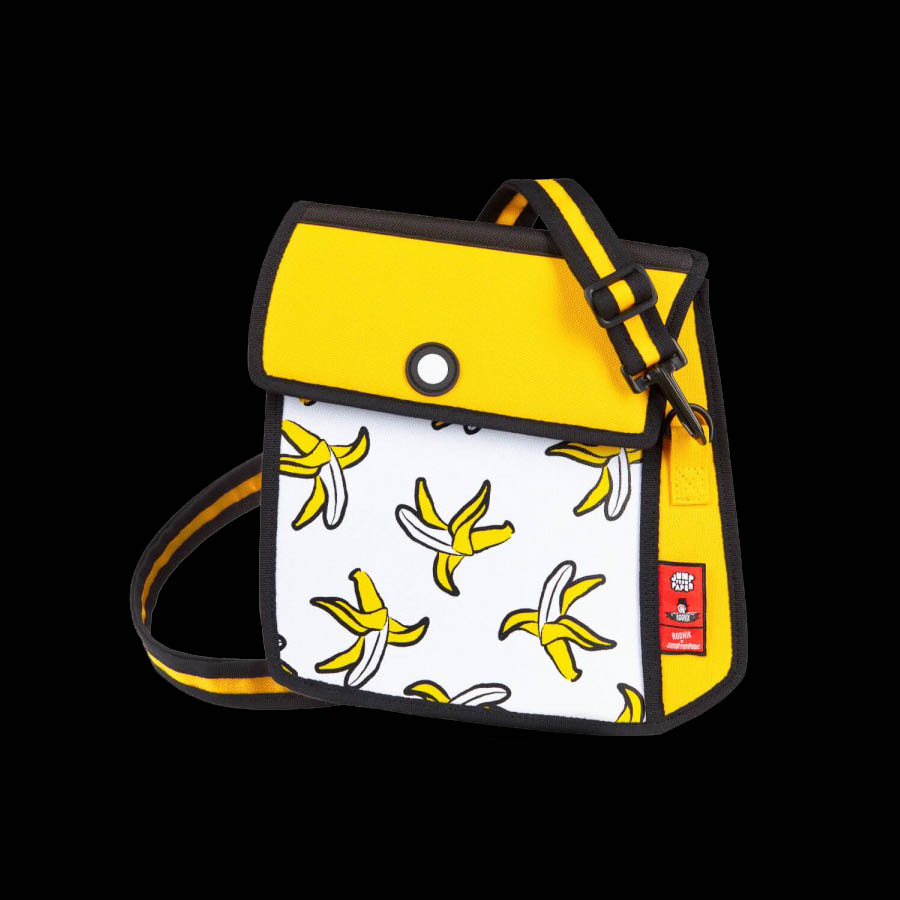<div>Banana Printed Shoulder Bag &ndash; Yellow<br />