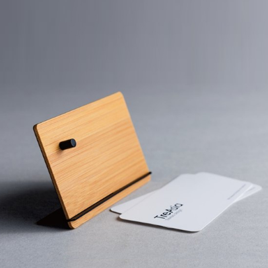 TreAsia CROSS︱ Bamboo Card Stand _磁力燻竹名片座