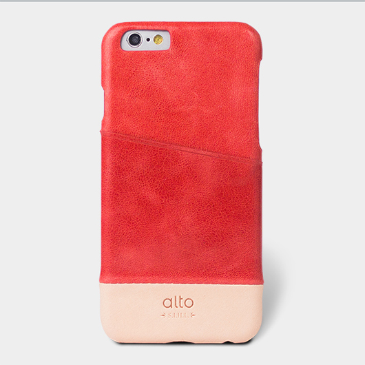 <div>[alto] Metro Leather Case For iPhone 6 / 6S 真皮手機殼背蓋 - 西瓜紅/本色</div>