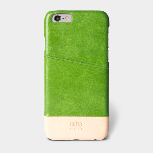<div>[alto] Metro Leather Case For iPhone 6 / 6S 真皮手機殼背蓋 - 草綠/本色</div>
