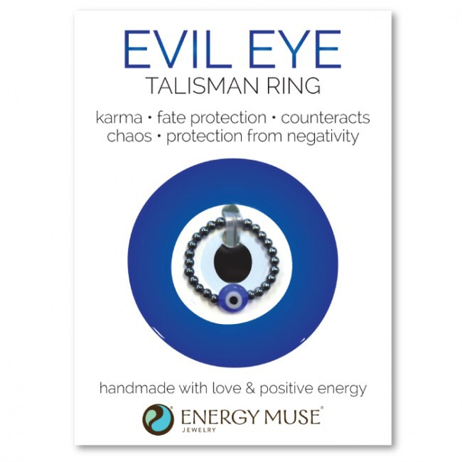 Energy Muse-Evil Eye Talisman Ring