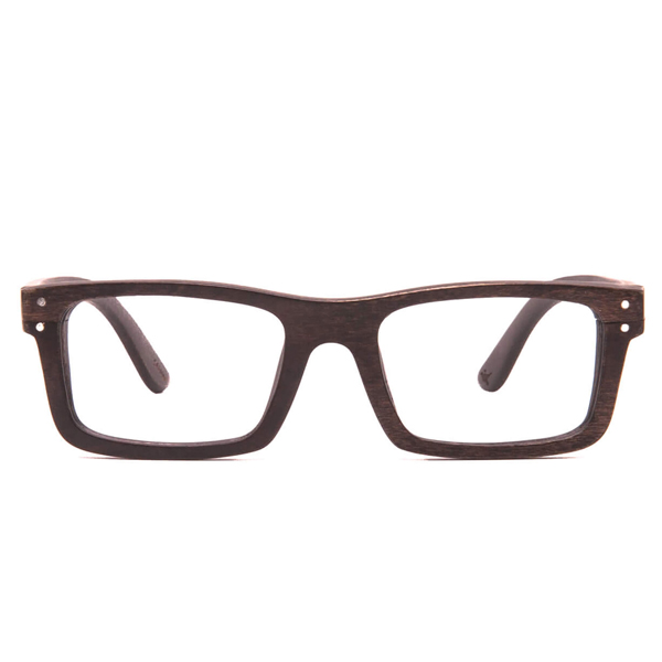 Boise Wood Rx - Black Maple Clear Lens