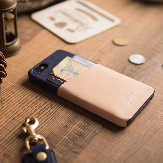 [alto] Metro Leather Case For iPhone 5S / SE 真皮手機殻背蓋 海軍藍
