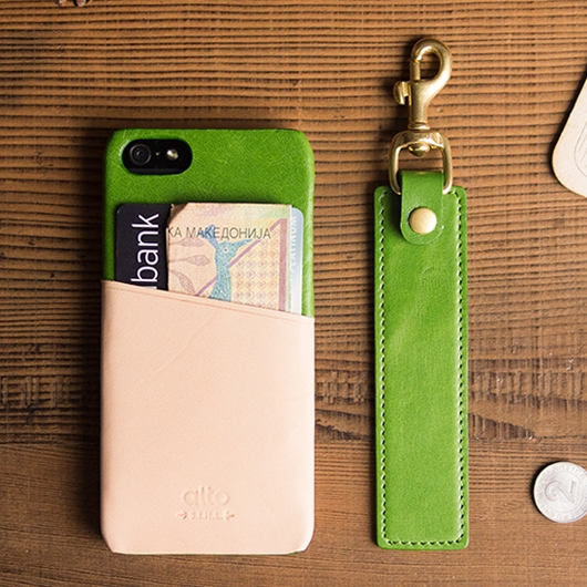 [alto] Metro Leather Case For iPhone 5S / SE 真皮手機殻背蓋  草綠色