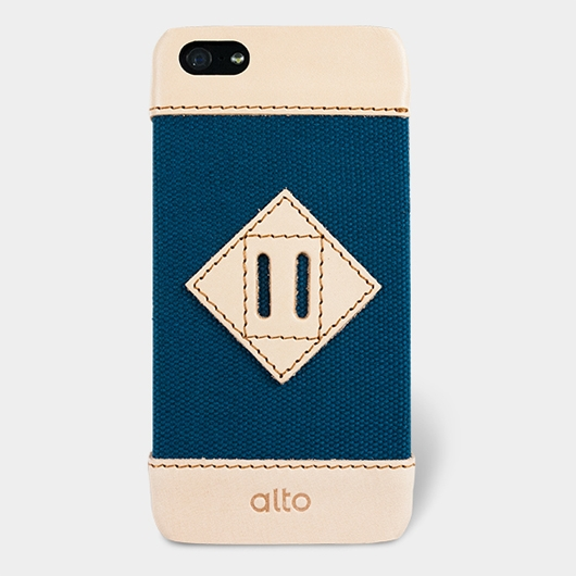 [alto] Scapa Leather Case For iPhone 5S / SE 真皮手機殼背蓋 - 牛仔藍