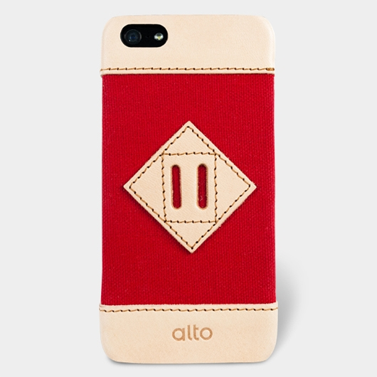 [alto] Scapa Leather Case For iPhone 5S / SE 真皮手機殼背蓋 - 牡丹紅