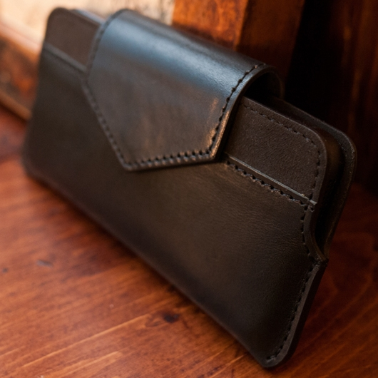 [alto] Serata Leather Case For iPhone 5S / SE 真皮手機套 -黑色
