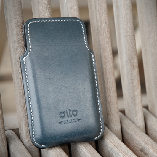 [alto] Informa Leather Case For iPhone 4 / 4S 義大利真皮皮套 海軍藍