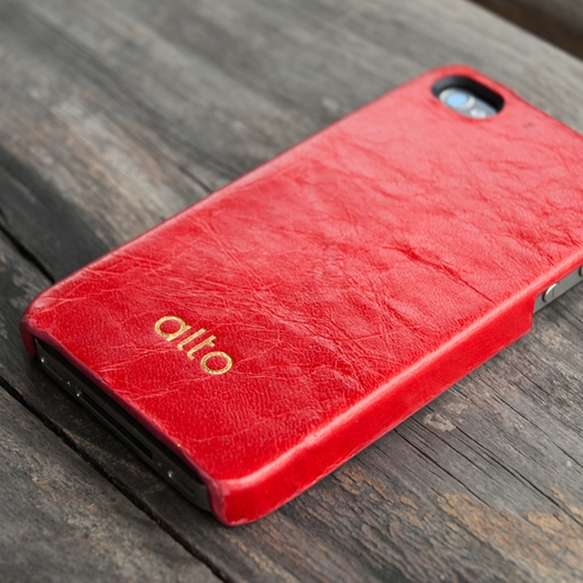 [alto] Original Leather Case For iPhone 4 / 4S 真皮皮革背蓋 紅色
