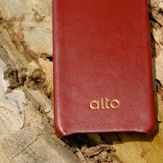 [alto] Original Leather Case For iPhone 4 / 4S 真皮皮革背蓋 酒紅色