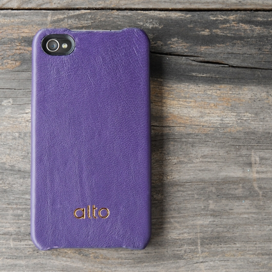 [alto] Original Leather Case For iPhone 4 / 4S 真皮皮革背蓋 紫色