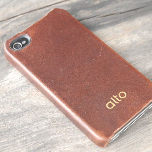 [alto] Original Leather Case For iPhone 4 / 4S 真皮皮革背蓋 深棕色