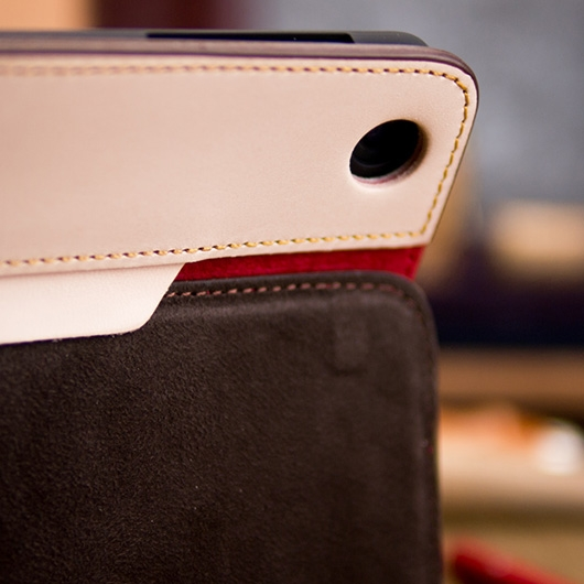 [alto]  Furbo Air 1st Genuine Leather Case for iPad Air 真皮保護套 - 麂皮紅