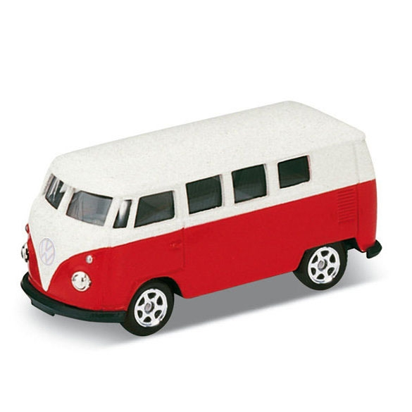 Welly合金玩具迴力車 VOLKSWAGEN 63 CLASSICAL BUS-RED